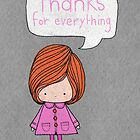 Thanks for everything by stamptout