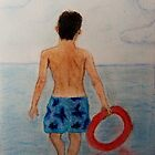 Boy on the beach by Narayan Pillai