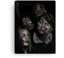 Zombies don't say 'Brains' Canvas Print