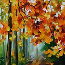 FOGGY FOREST - LEONID AFREMOV by Leonid  Afremov