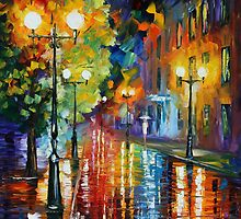 TWISTED CITY - LEONID AFREMOV by Leonid  Afremov