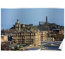 The Balmoral Hotel from the Castle Poster