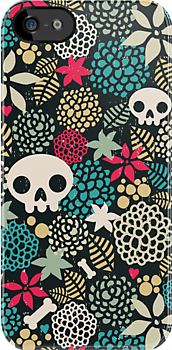 Skulls and flowers. (2) by Ekaterina Panova