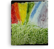 Genesis Laurel Rainbow Canvas Print