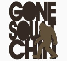 Gone Squatchin' Brown Silhouette by avdesigns