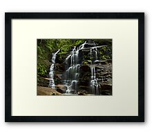 Sylvia Falls - Blue Mountains NP, NSW Framed Print