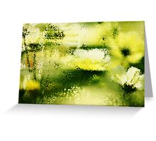 Dreamy Flowers In The Rain  Greeting Card