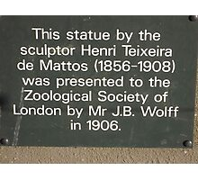 Wooden Sculpture/Lion vs Man/(3 of 3) -(190212)- digital photo Photographic Print