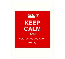Keep Calm and Carry On - Morse Code T Shirt Art Print