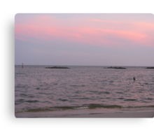 Sunset over the Beaches of Dauphin Island Canvas Print