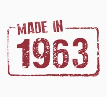 Made in 1963 Kids Clothes