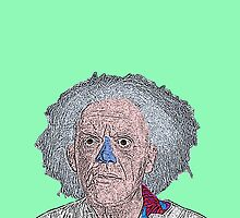 Back to the Future Doc Brown by CultureCloth