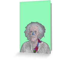 Back to the Future Doc Brown Greeting Card