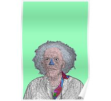 Back to the Future Doc Brown Poster