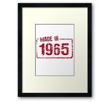 Made in 1965 Framed Print