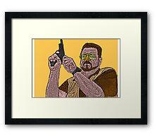 Big Lebowski Walter Framed Print