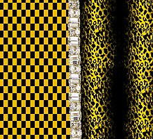 Funky Faux Rhinestone Animal Print & Checked Iphone or Ipod Case by jvinnyg