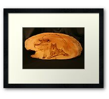 PYROGRAPHY: The Eagle & The Wolf Framed Print