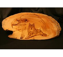 PYROGRAPHY: The Eagle & The Wolf Photographic Print