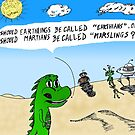 Earthlings or Marslings cartoon by bubbleicious
