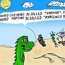 Earthlings or Marslings cartoon by bubbleicious