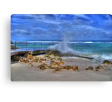Walking Wet Canvas Print