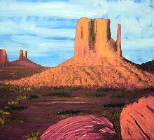 Monument Valley  4rd by Heberto   G. Cavazoz