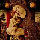 Embellished Veil: Madonna & Child- by Carlo Crivelli - 1482 by Ian A. Hawkins