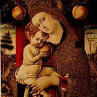 Embellished Veil: Madonna & Child- by Carlo Crivelli - 1482 by Ian A. Hawkins