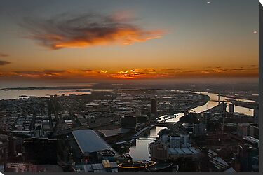 Sunset over the Yarra by fotoWerner