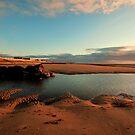 Cleveleys Beach Evening by John Hare