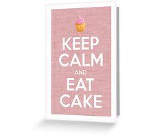 Keep Calm and Eat Cake Print Greeting Card