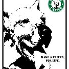 No-Kill United - ES MAKE A FRIEND (PRINT) by Anthony Trott