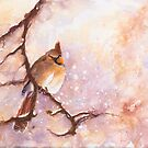 MAGICAL Female Winter Cardinal Copetón by CheyAnne Sexton