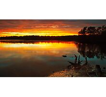 Burning Lake Photographic Print