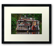 Paddle Wheeler. Framed Print