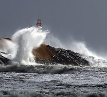 Stormy Surf at Cape Forchu by Debbie  Roberts