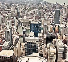 Aerial view of Chicago by derejeb
