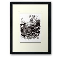 Gateway With Young Oak Tree Framed Print