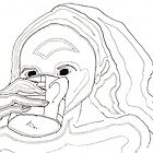 Womand Drinking Tea by CaraJLaingArt