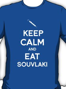Keep Calm and Eat Souvlaki T-Shirt