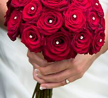 Wedding Bouquet of Red Flowers  by slidewarrior