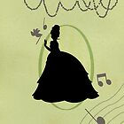 Princess Tiana Full Body Silhouette by joshda88