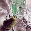 Pear and Decanter by Michael Beckett