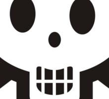 Knitting needles skull and yarn t-shirt Sticker