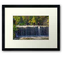 Weir walking Framed Print