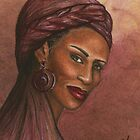 Regal Lady in Plum by Alga Washington