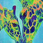 blue giraffes iphone by jashumbert