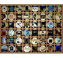 Strolling down memory lane is a test of time and mind.  MEMORY QUILT Photographic Print