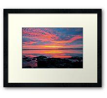 30 minutes before sunrise. 27-2-12. Framed Print